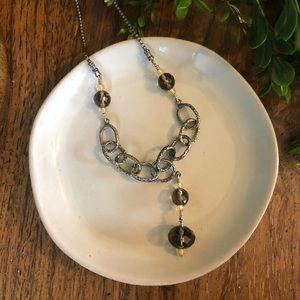 Silpada smoky quartz necklace N1454